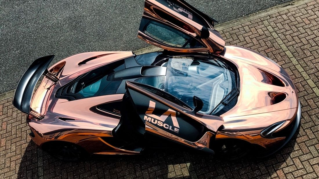 Mclaren P1 goes to Yiannimize Transforms to Chrome Rose Gold