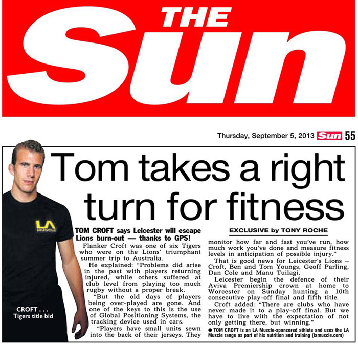 Tom Croft takes a right turn for fitness