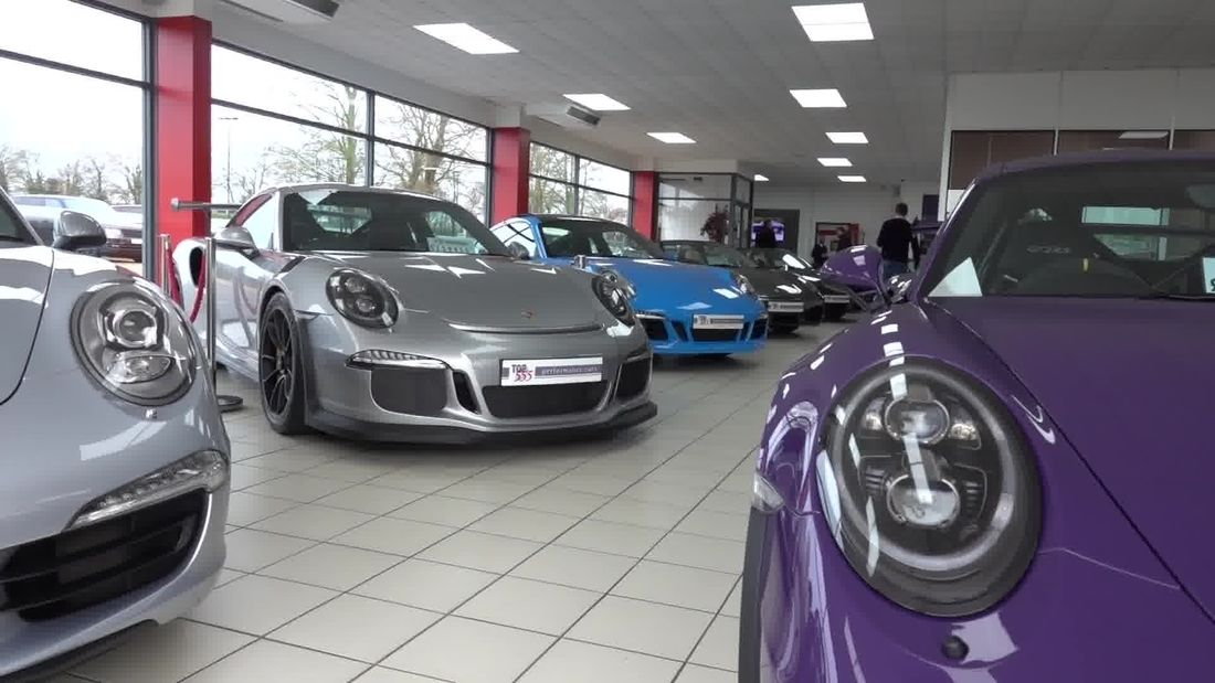 SUPERCAR meet at luxury car dealership Top 555 very RARE supercars
