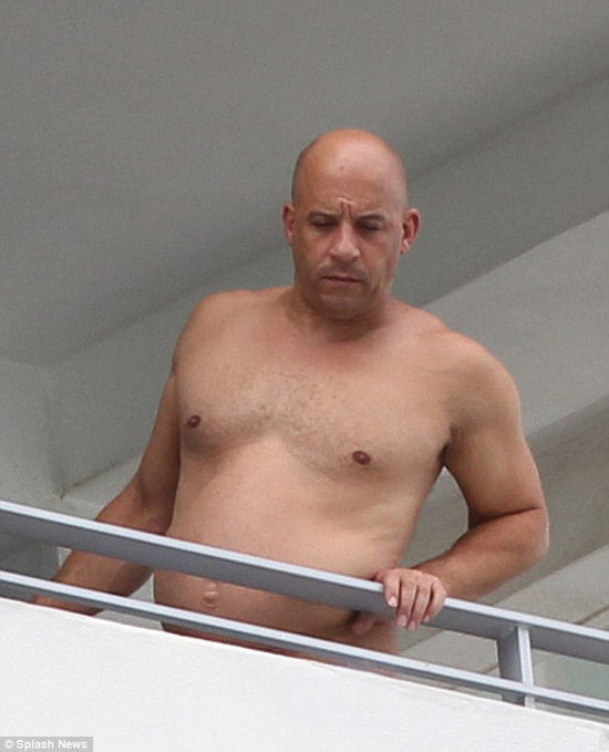 Vin Diesel looking fat?